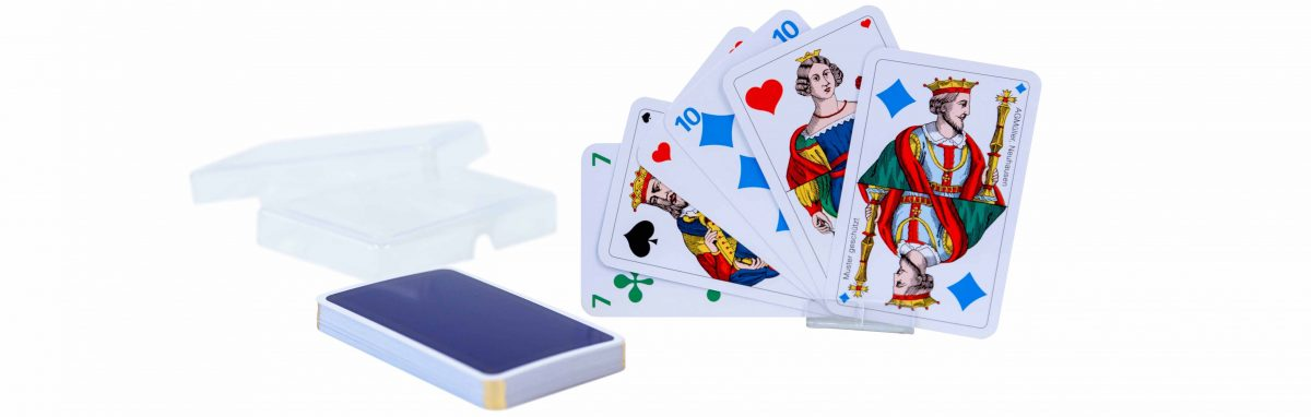 LUXUS OPTI-Piquetkarten 4-farben Goldecken