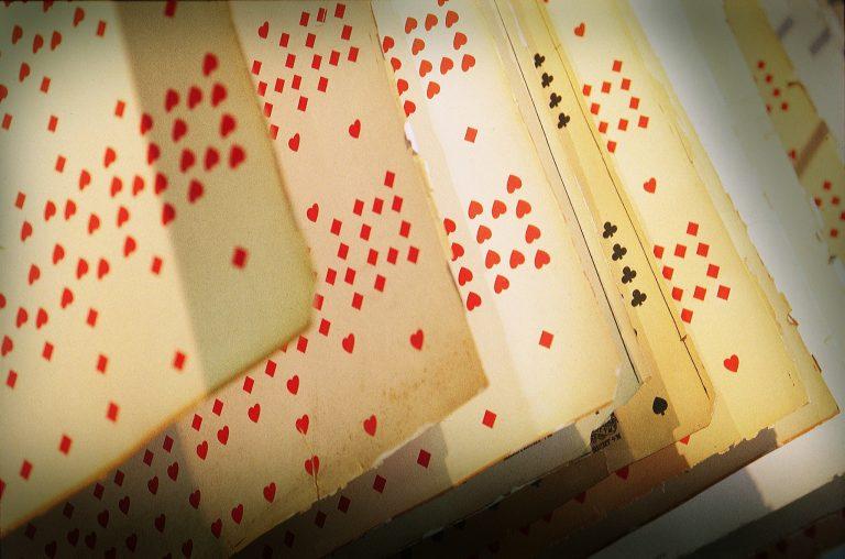 Alte Spielkarten im Spielkarten Museum Turnhout
