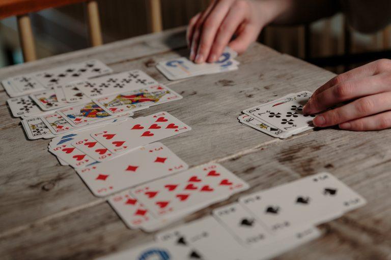 Spielkarten Patience Spiel
