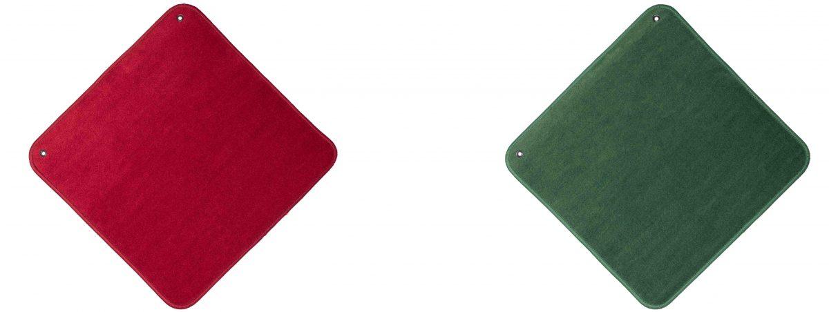 Jass Jassteppich Rot und Grün