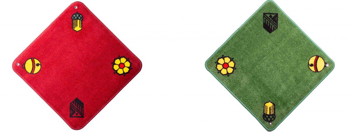 Jassteppich Jass Rot und Grün