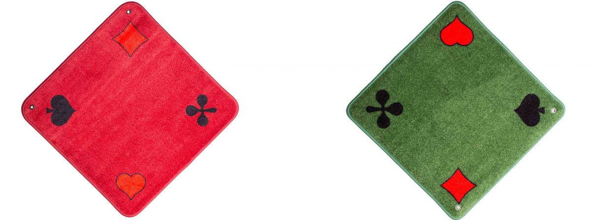 Jassteppich Piquet Rot und Grün