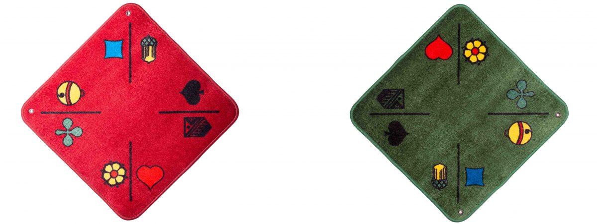 Jassteppich Jass und Piquet Rot und Grün