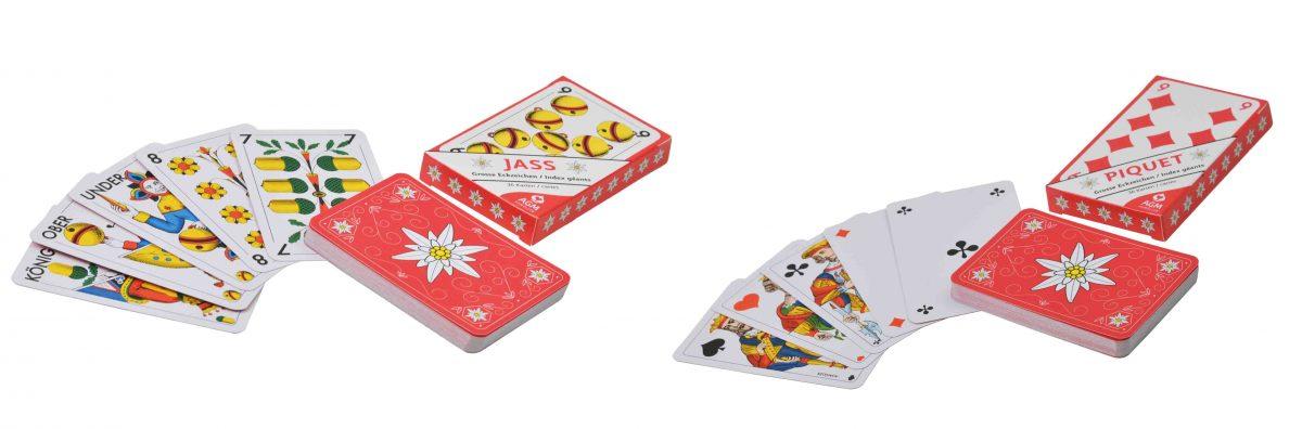 Edelweiss OPTI Jasskarten und Piquetkarten
