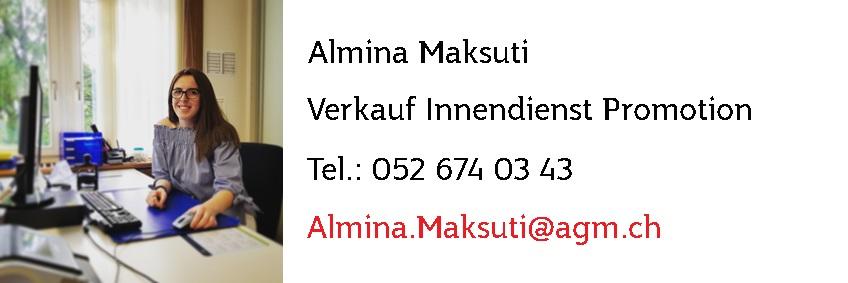 Almina Maksuti - Jasskarten mit Werbeaufdruck