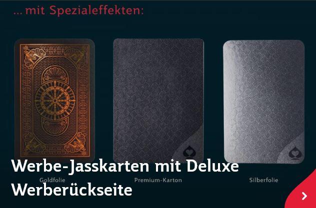 Delux Werbe-Jasskarten