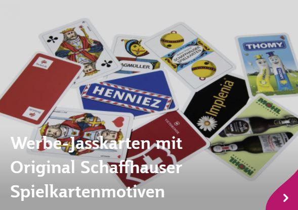 Jasskarten mit Werberückseite - Block