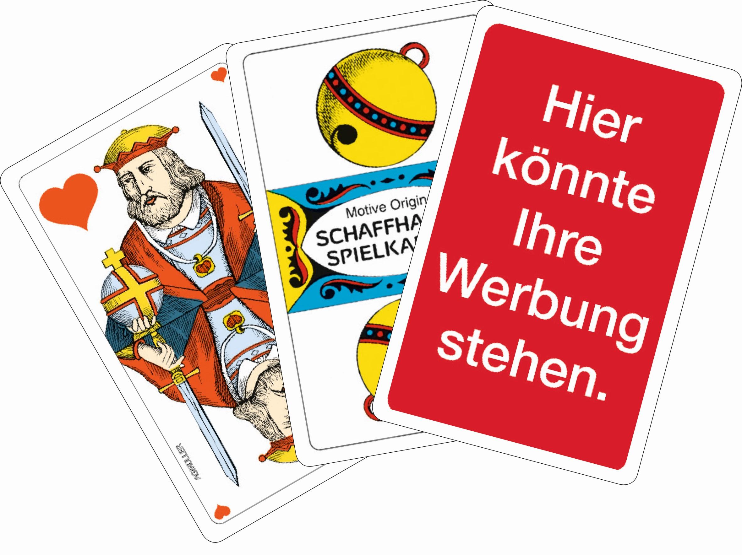 Jasskarten mit Werberückseite