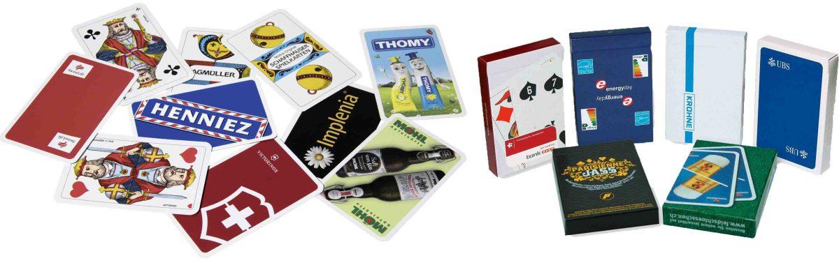 Jasskarten und Piquetkarten Referenz