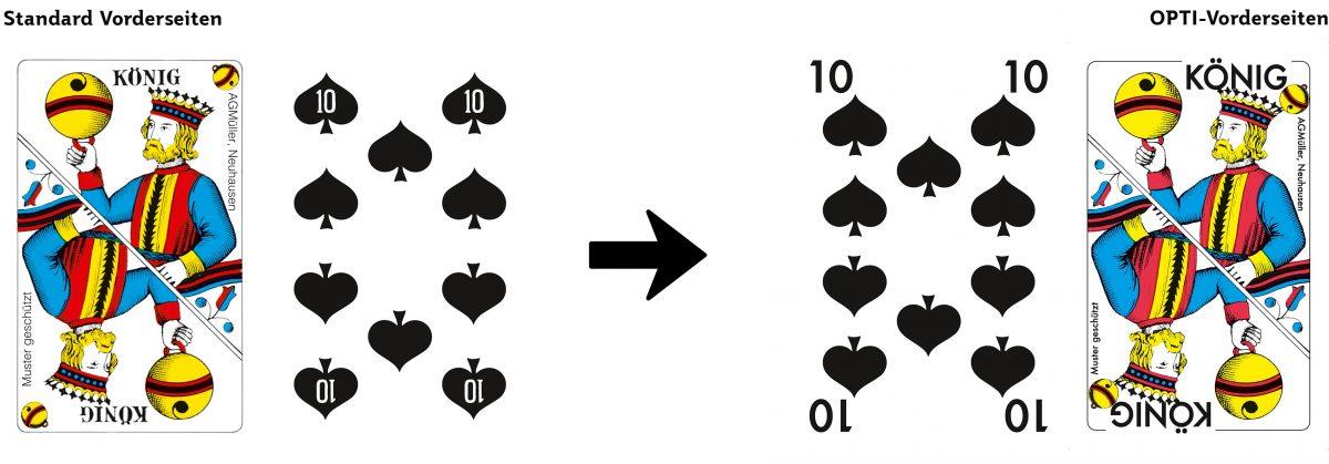 Standard Jass und OPTI-Jasskarten