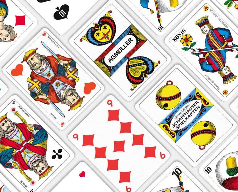 Werbe-Jasskarten-Original-Schaffhauser-Motive