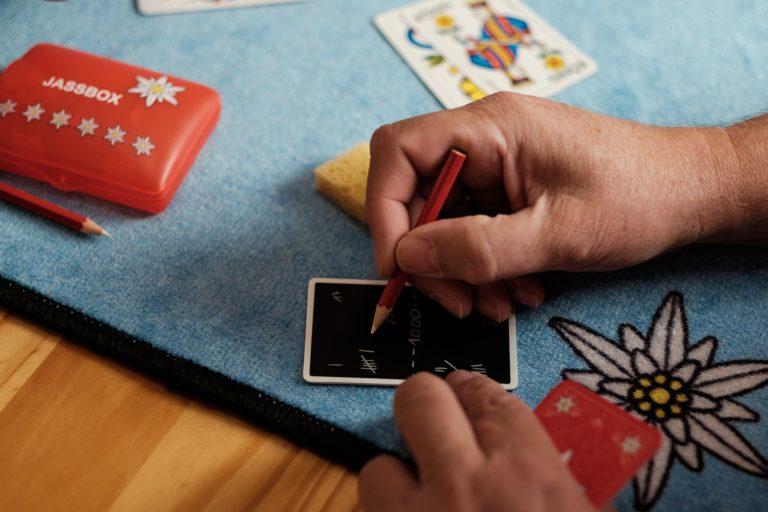 Edelweiss Jassbox mit Jasskarten
